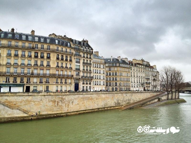 جزیره ایل سنت لویی (Ile Saint-Louis) در شهر پاریس