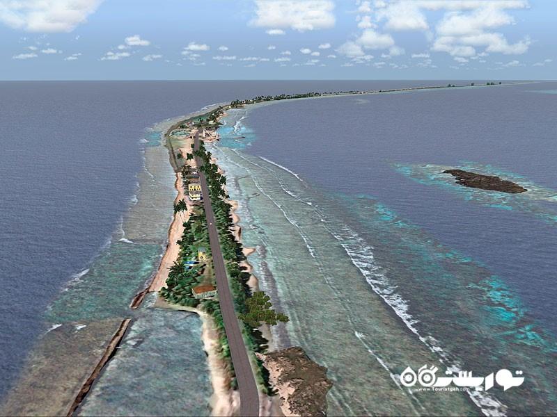 جزیره ایبای (Ebeye) در مجمع الجزایر مارشال (Marshall)