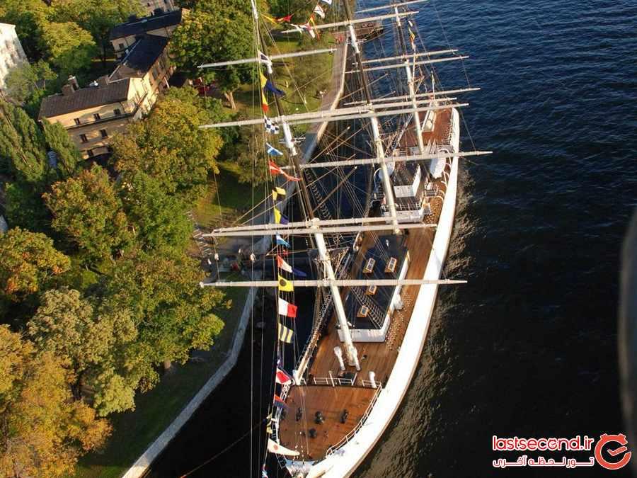 اقامت روی آب در هاستلی در استکهلم      