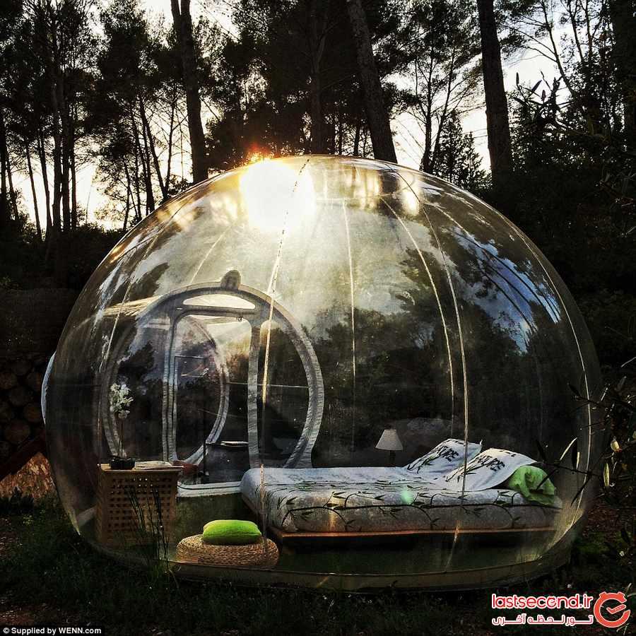 اقامت در یک حباب ! ستارگان را تماشا کنید           