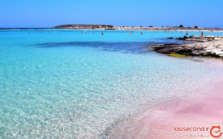 زیباترین سواحل صورتی دنیا