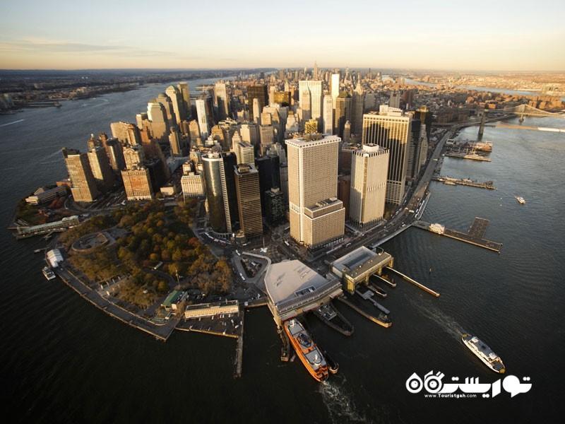 جزیره منهتن (Manhattan) در کشور ایالات متحده آمریکا