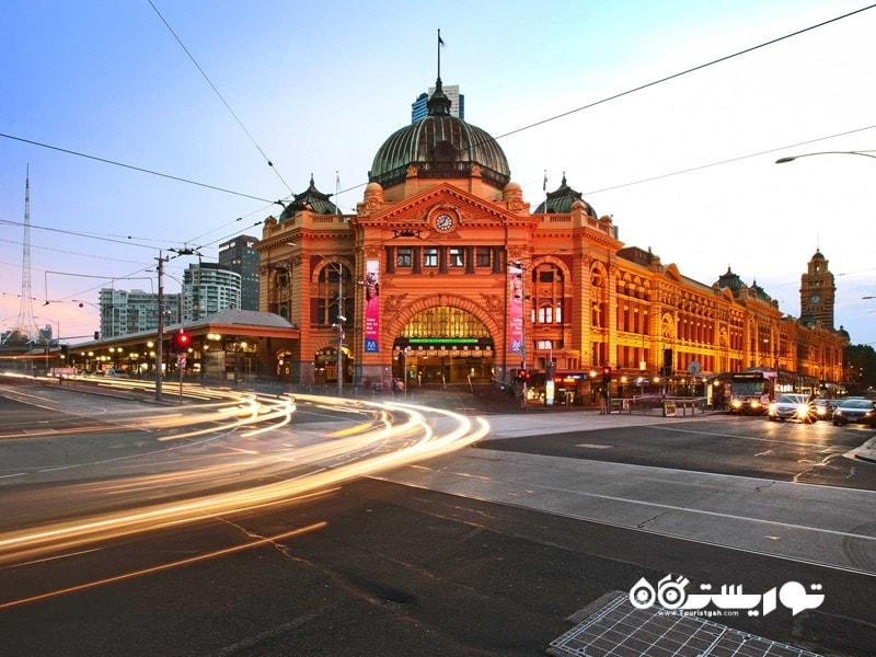 ایستگاه قطار خیابان فلیندِرز (Flinders Street Station)، ملبورن