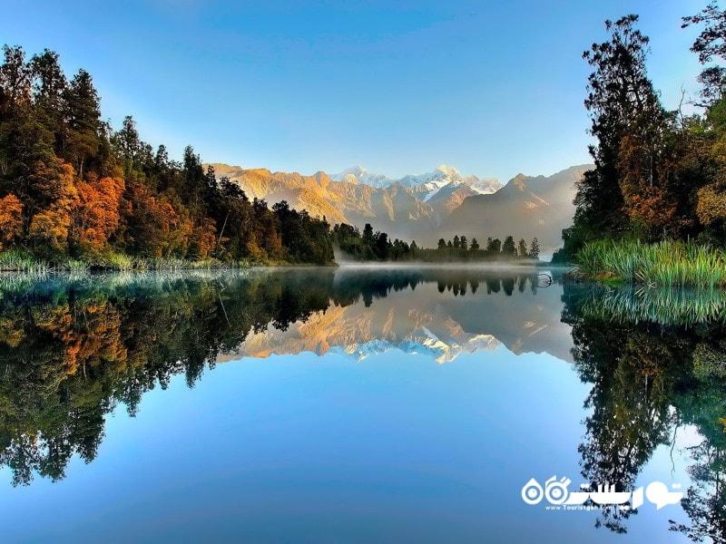 دریاچه ماتسون، نیوزلند (Lake Matheson, New Zealand)