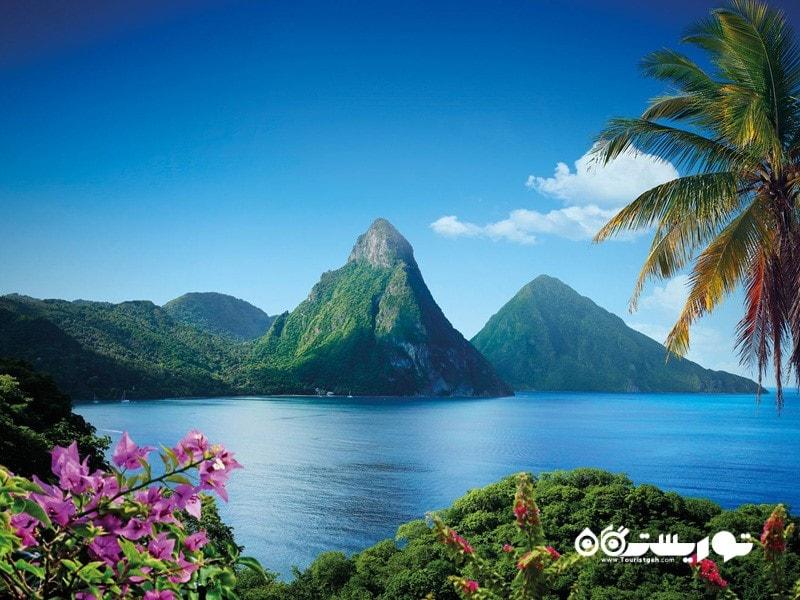 بهترین سفر عاشقانه: جزیره سنت لوسیا (St. Lucia)