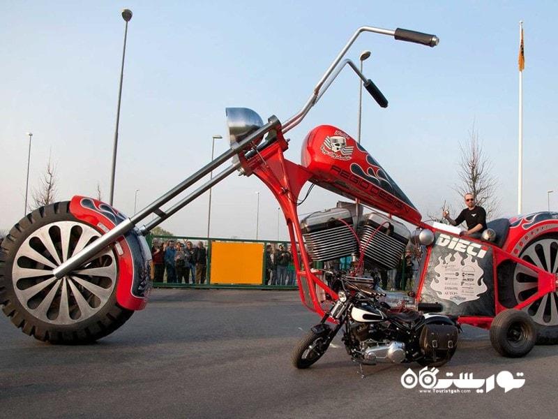 مرتفع ترین موتورسیکلت قابل راندن