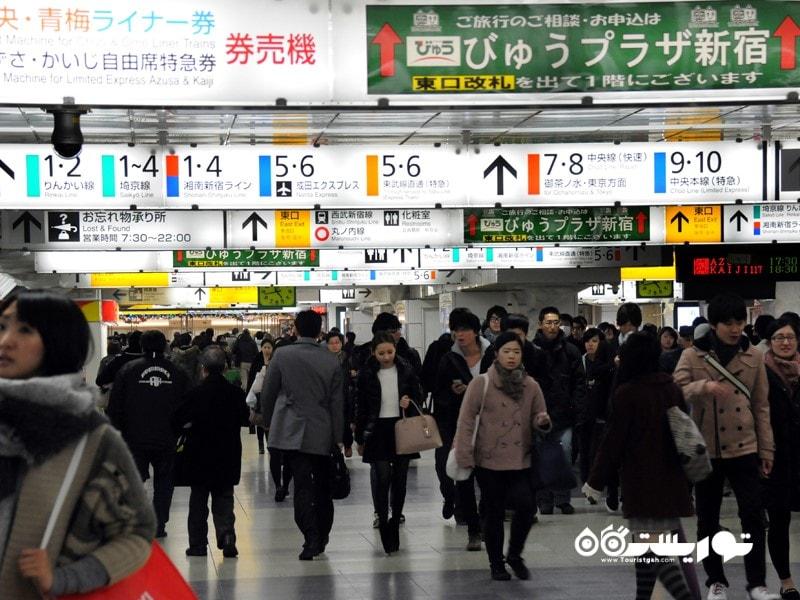 ایستگاه شینجوکو (Shinjuku Station)، ژاپن