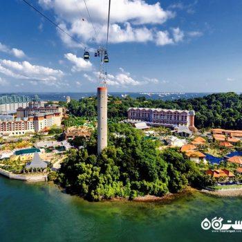نمایی زیبا از جزیره سنتوس در سنگاپور