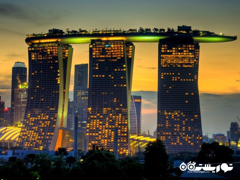 هتل مارینا بی سندز  در شهر سنگاپور