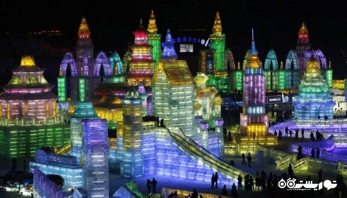 بزرگترین جشنواره برف و یخ در هاربین