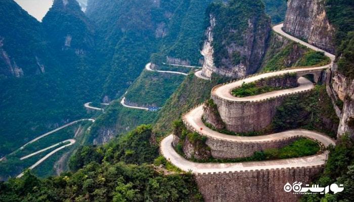 کوه هونز گِیت یا دروازه بهشت در کشور چین