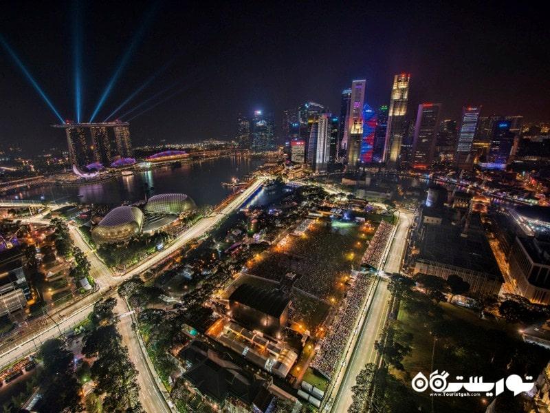 نمایی زیبا از شبهای شهر سنگاپور