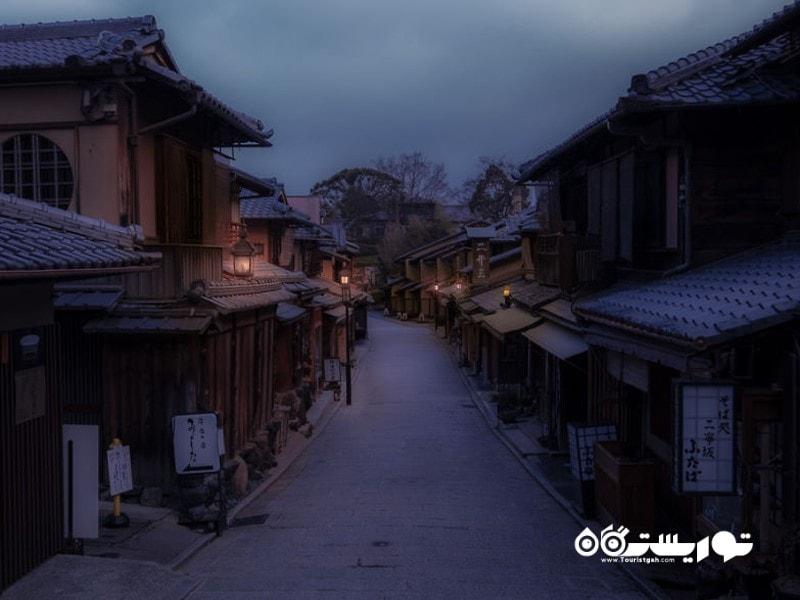 خیابان های کیوتو در کشور ژاپن
