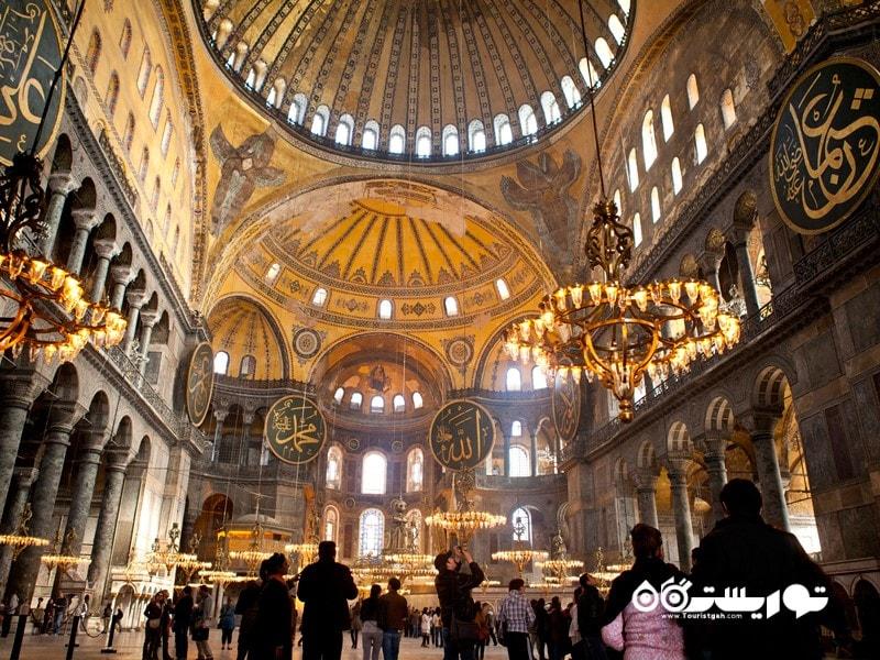 مسجد ایاصوفیه در استانبول (Ayasofya in Istanbul) در کشور ترکیه