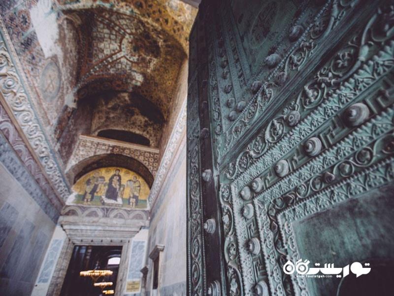 طراحی داخلی مسجد ایاصوفیه
