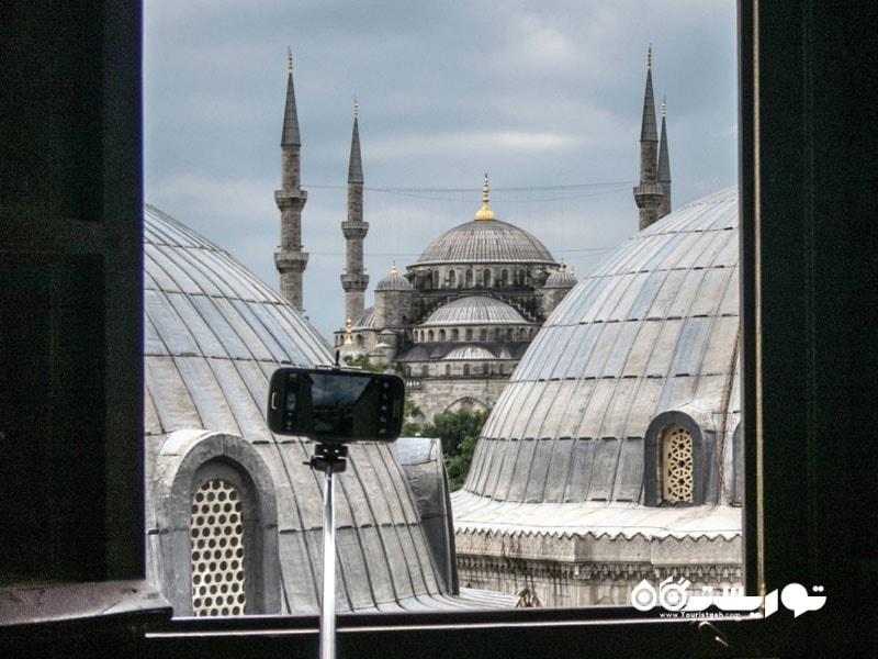 تماشای مسجد آبی از ایا صوفیه