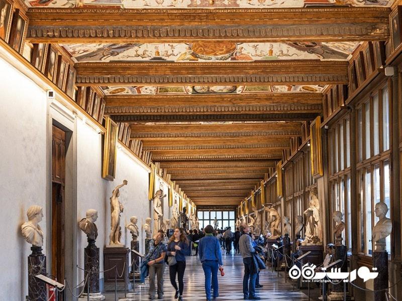گالری اوفیتزی در فلورانس (Uffizi Gallery in Florence) در کشور ایتالیا