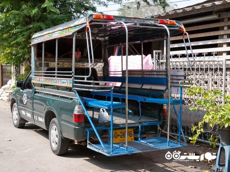 12: تردد با اتوبوس های محلی سونگ تِئو (Song Taew)