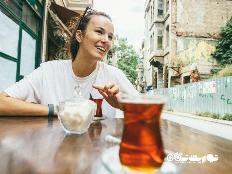 تجربه نوشیدن چای ترکی