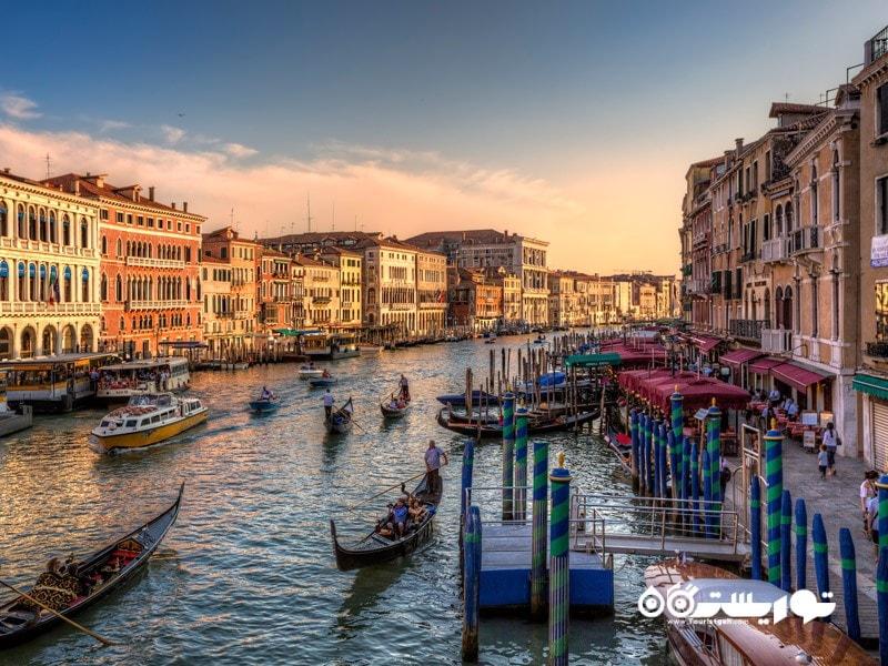 آبراه بزرگ ونیز (The Grand Canal in Venice) در کشور ایتالیا