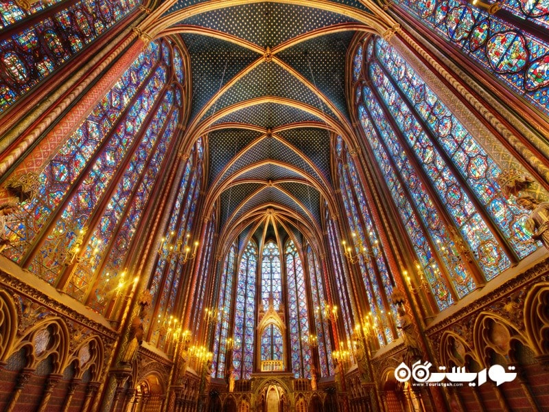 سنت چاپله در پاریس (Saint-Chapelle in Parsi) در کشور فرانسه