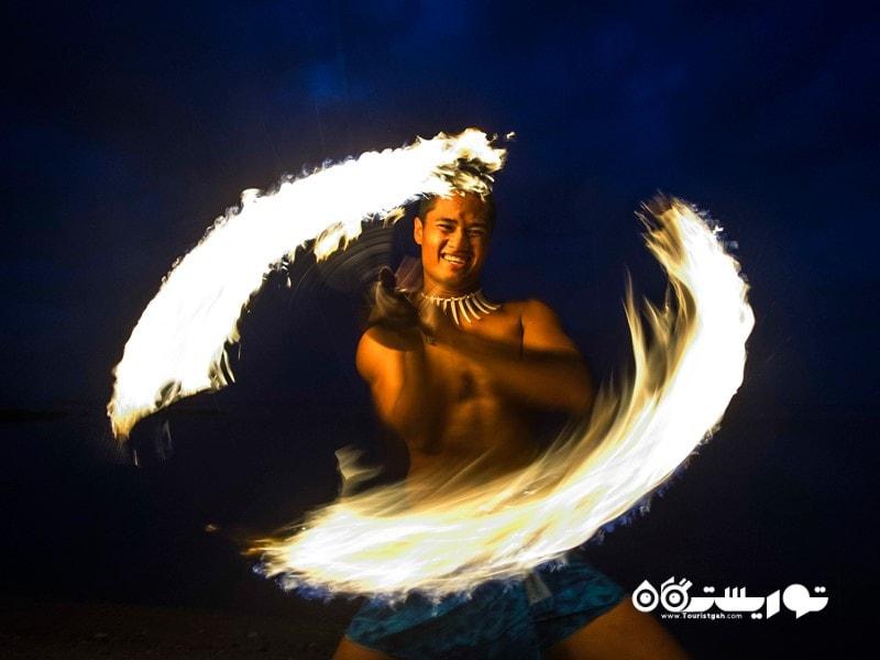 3) دهکده فرهنگی ساموآ و نمایش فیا فیا