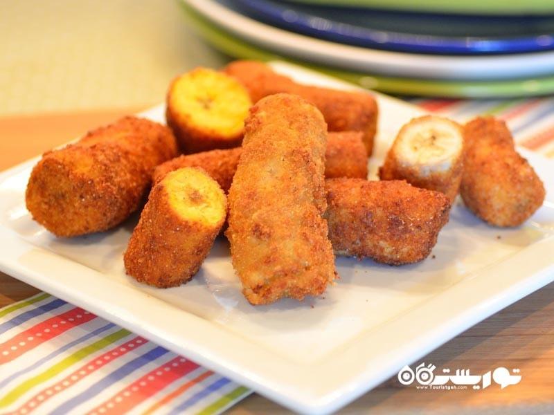 14- موز سرخ شده Deep Fried Banana (Banana Fritters) کوالالامپور